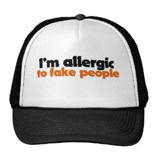 Soy alérgico falsificar a gente gorros