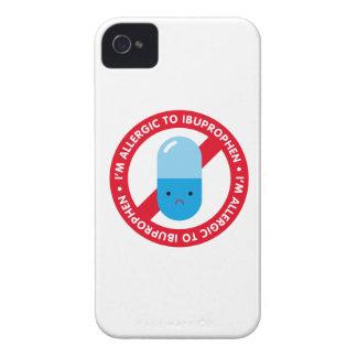 ¡Soy alérgico ibuprophen! Alergia de Ibuprophen iPhone 4 Protector