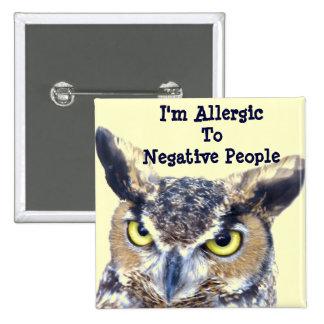 Soy Allergic_Button Pin Cuadrado