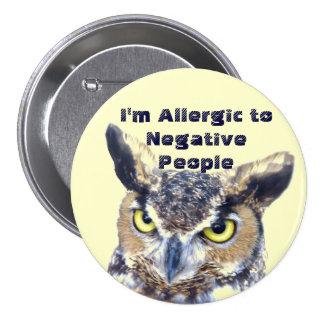 Soy Allergic_Button Pin Redondo De 3 Pulgadas