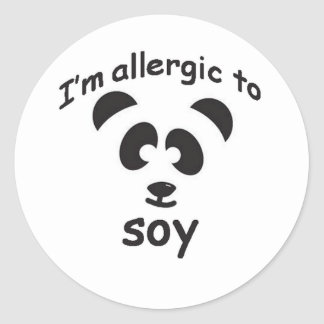 Soy allergy sticker
