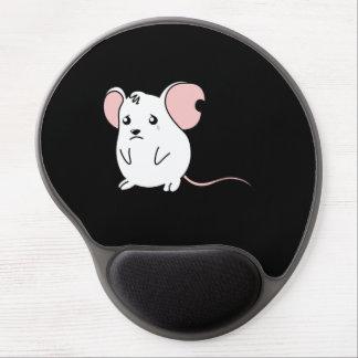 Soy almohada blanca gritadora triste de la taza alfombrilla de raton con gel