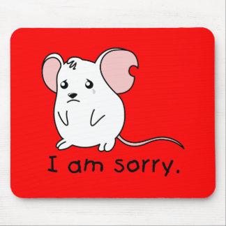 Soy almohada blanca gritadora triste de la taza tapetes de ratón