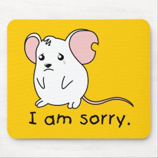 Soy almohada blanca gritadora triste de la taza tapete de raton