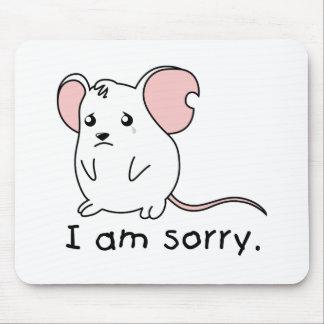 Soy almohada blanca gritadora triste de la taza alfombrilla de ratón
