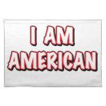Soy americano mantel individual