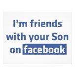 Soy amigos con su hijo en facebook. comunicado