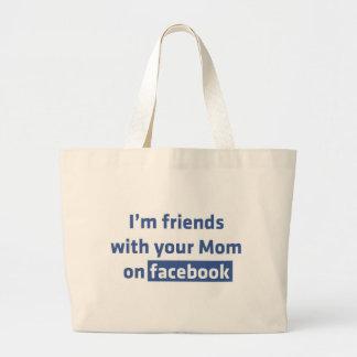Soy amigos con su mamá en facebook bolsa de mano