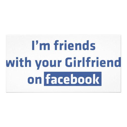 Soy amigos con su novia en facebook tarjetas fotográficas personalizadas