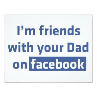 Soy amigos con su papá en Facebook Invitacion Personalizada