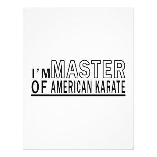 Soy amo del karate americano membretes personalizados