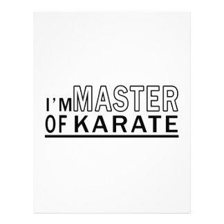 Soy amo del karate membrete a diseño