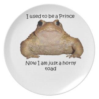 Soy apenas un sapo córneo plato