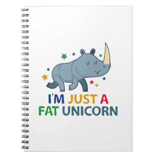 Soy apenas un unicornio gordo cuaderno