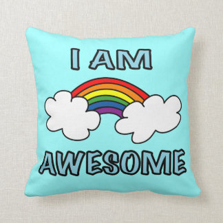 """Soy"" arco iris impresionante Cojines"