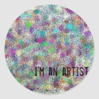 Soy artista pegatina redonda