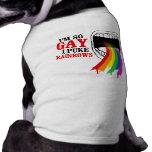 Soy así que gay, puke los arco iris playera sin mangas para perro