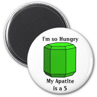 Soy así que hambriento, mi apatita es 5 imán redondo 5 cm