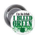 Soy así que irlandés que sangro verde pins