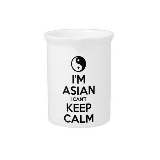 Soy asiático yo no puedo guardar calma jarra para bebida