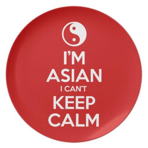 Soy asiático yo no puedo guardar calma platos para fiestas