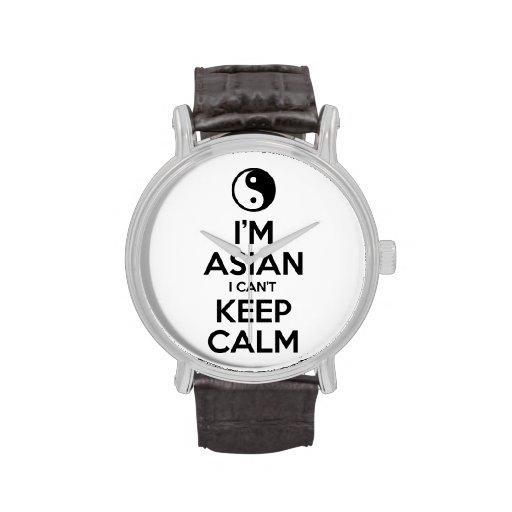 Soy asiático yo no puedo guardar calma relojes
