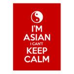 Soy asiático yo no puedo guardar calma plantillas de tarjetas personales