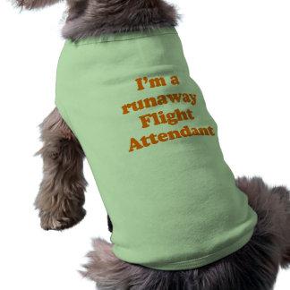 Soy ASISTENTE de VUELO del FUGITIVO Camisetas De Perro