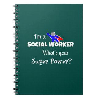 """""""Soy asistente social. ¿Cuál es su superpoder? """" Cuaderno"""