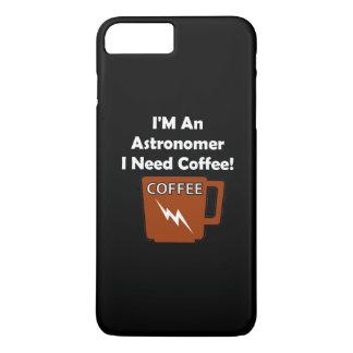 ¡Soy astrónomo, yo necesito el café! Funda iPhone 7 Plus