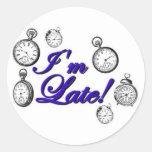 ¡Soy atrasado! ¡Soy atrasado! Pegatina Redonda
