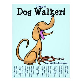 Soy aviador del caminante del perro tarjetón