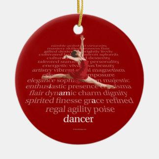 Soy bailarín adorno navideño redondo de cerámica