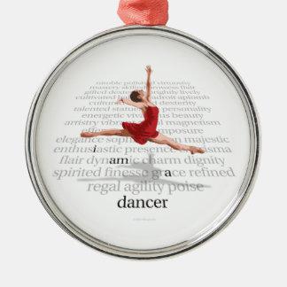 Soy bailarín adorno navideño redondo de metal