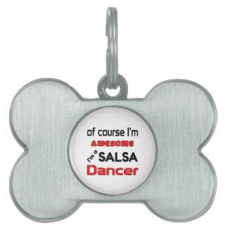 Soy bailarín de la salsa placas de mascota