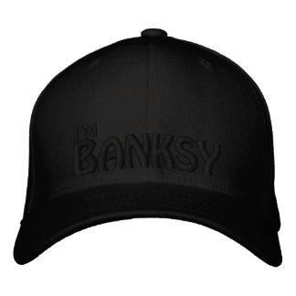 Soy Banksy el NEGRO EN NEGRO Gorras De Béisbol Bordadas