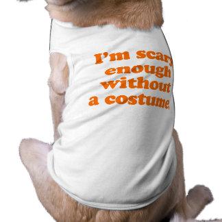 Soy bastante asustadizo sin un traje camisa de perro