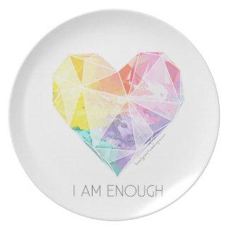 Soy bastante - cena de la placa platos
