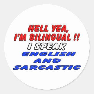 Soy bilingüe pegatinas redondas