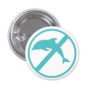 Soy biólogo marino y odio delfínes pin redondo de 1 pulgada