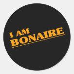 Soy Bonaire Pegatina Redonda
