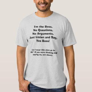 Soy Boss. Camiseta divertida con el frente/citas Camisas