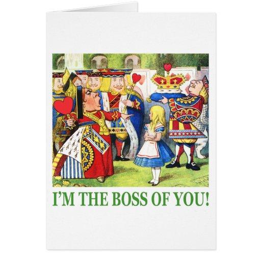 ¡Soy Boss de usted! Tarjeta De Felicitación