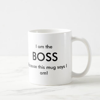 Soy Boss Taza Básica Blanca