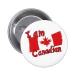 Soy botón canadiense pin