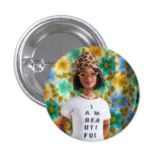 Soy botón hermoso - Ella Pin Redondo De 1 Pulgada