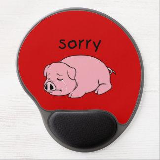 Soy botón rosado gritador triste de la taza de la alfombrillas de ratón con gel