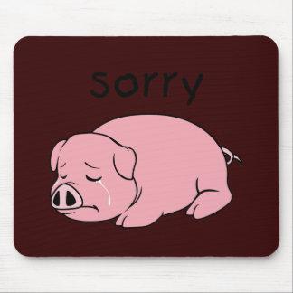 Soy botón rosado gritador triste de la taza de la tapetes de ratones