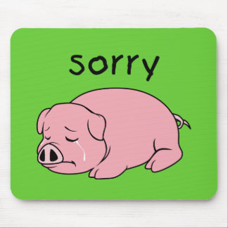 Soy botón rosado gritador triste de la taza de la tapetes de raton