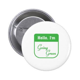 Soy botón verde que va pin